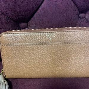Fossil zip wallet leather